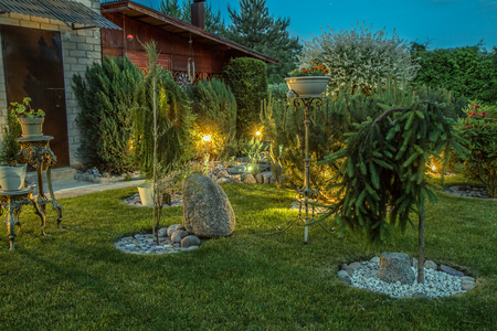 Beau Chadds Ford, PA Low Voltage Electric Outdoor Lighting